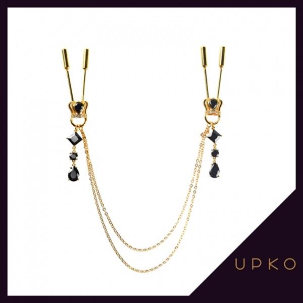 [UPKO] 왕관 장식 체인 니플 클램프