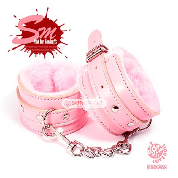핑크 퍼 수갑